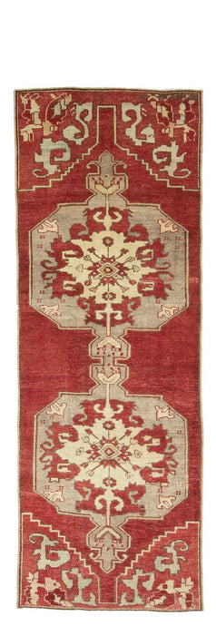 3x10 Red Old & Vintage Turkish Area Runner-turkish_rugs-oriental_rugs-kilim_rugs-oushak_rugs