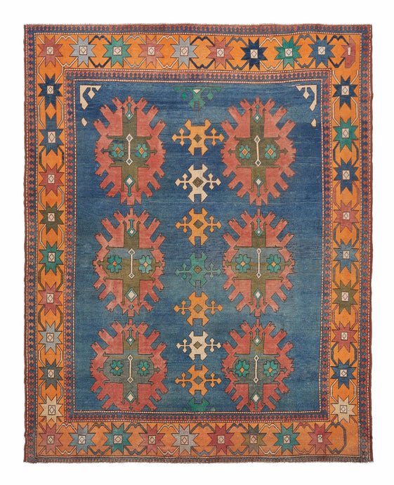 9x11 Colorful Old & Vintage Oushak Area Rug-turkish_rugs-oriental_rugs-kilim_rugs-oushak_rugs