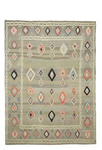 9x12 Colorful Modern Turkish Area Rug-turkish_rugs-oriental_rugs-kilim_rugs-oushak_rugs