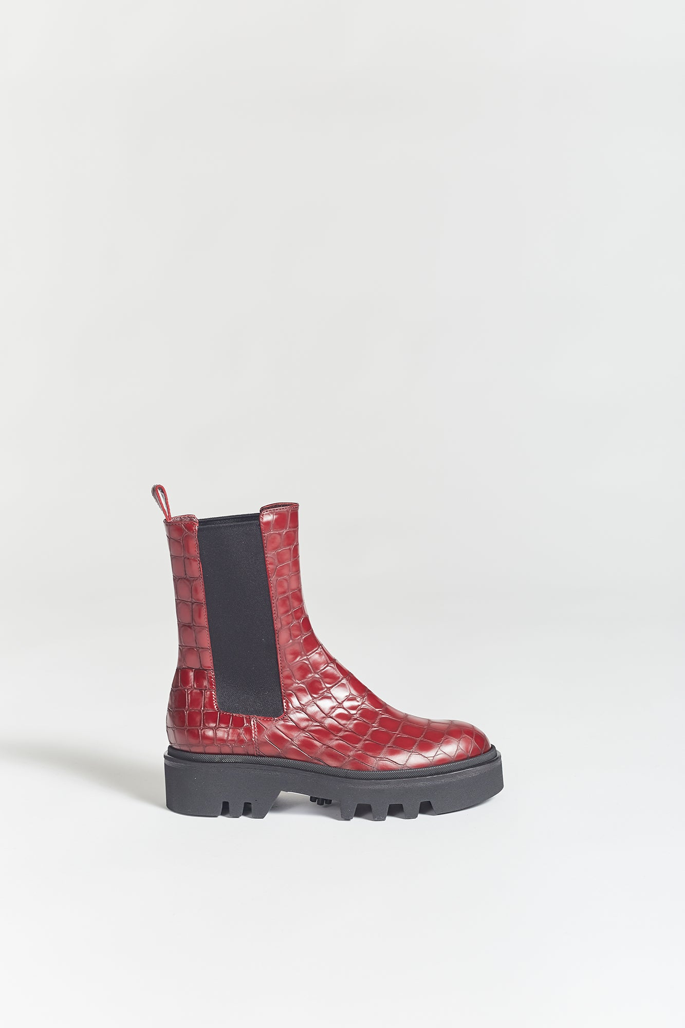Dries Van Noten Croc Embossed Chelsea Boot