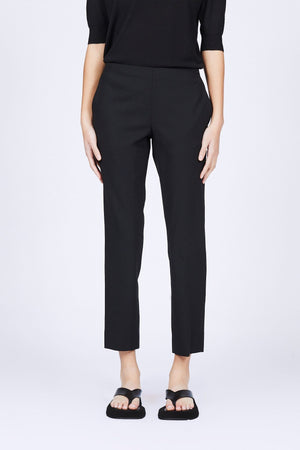 6397 Black Wool Pull On Trouser