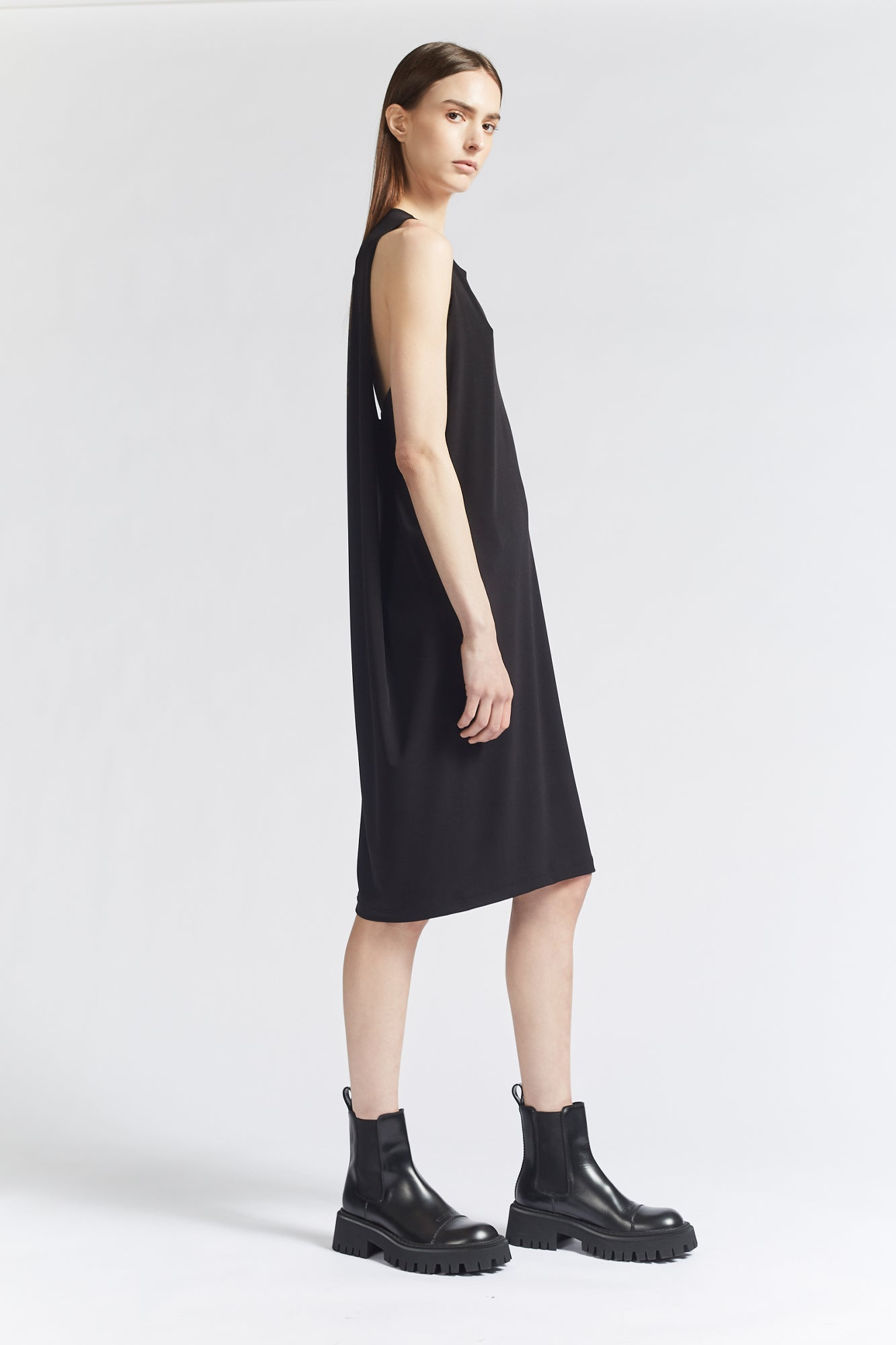 One Nineteen Sleeveless Draped Dress
