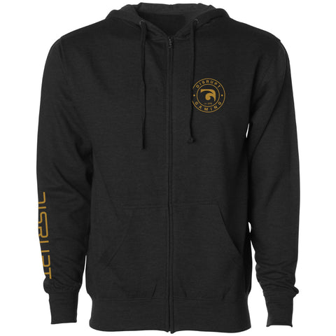 Disrupt Crest Heart Zip Up Hoodie