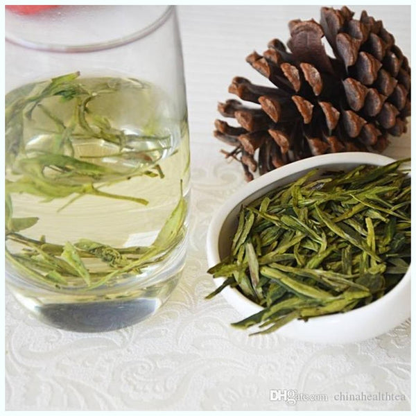 Buzzard Tea presents handcrafted gourmet Green blend Dragonwell Tea