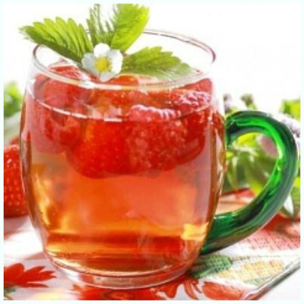 Buzzard Tea presents handcrafted gourmet Green blend Raspberry Green Tea