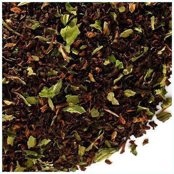 Buzzard Tea presents handcrafted gourmet Red blend Chocolate Mint Tea