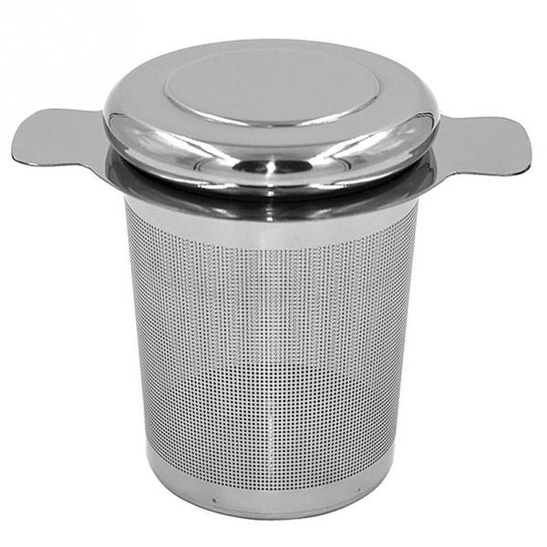 Reusable Stainless Steel Tea Infuser Basket Fine Mesh Tea Strainer with 2 Handles Lid Tea and Coffee Filters for Loose Tea Leaf