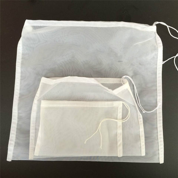 4 Sizes Tea Nut Fruit Juice Milk Nylon Mesh Filter Bag With String Net Strainer Reusable New Kitchen Tools & Gadgets