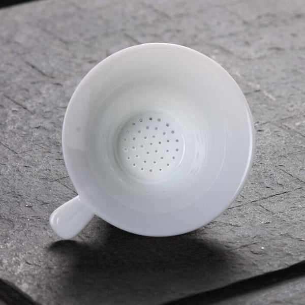 Chinese Kung Fu Tea Set Porcelain Tea Strainer Dehua High White Ceramics Resistant To High Temperature Smooth Tea Filter S