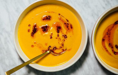 Sweet Potato Soup with Chili Oil
