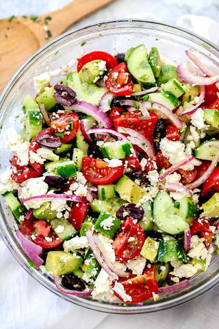 CBD Infused Greek Salad