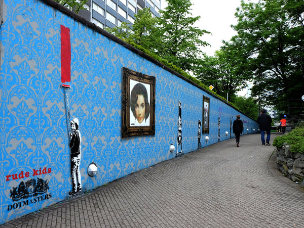 Dotmasters 60m Painting in Stavanger for NUART FESTIVAL