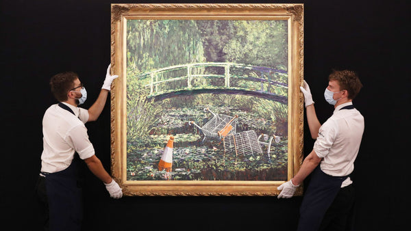 Banksy's Show me the Monet painting fetches £7.5m at the Sotheby's auction
