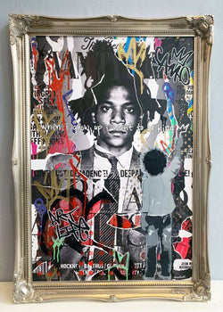 Graffik Gallery And Wot - Basquiat (Gold Frame)