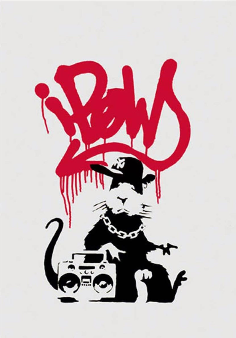 Graffik Gallery Banksy - Gangsta Rat - Unsigned