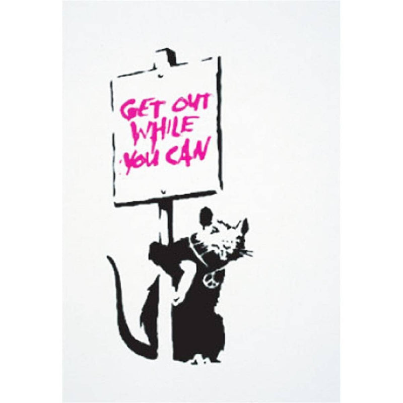 Graffik Gallery Banksy - Get Out while you can (Pink) - Unsigned