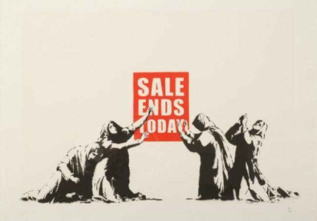 Graffik Gallery Banksy - Sale Ends v2 - Signed