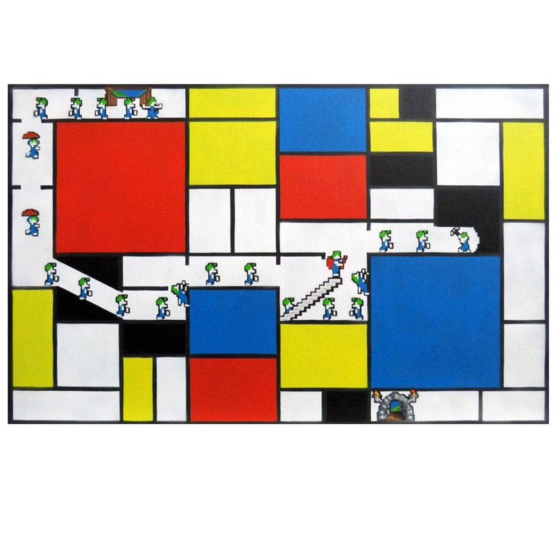 Graffik Gallery Catman - Lemmings vs Mondrian