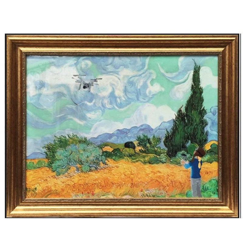 Graffik Gallery Catman - Wheat Field with Drone