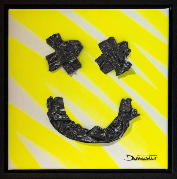 Graffik Gallery Dotmaster - Gaffa tape smile, acid yellow