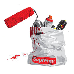 Graffik Gallery Dotmaster - Supreme Trash Bag (Red)