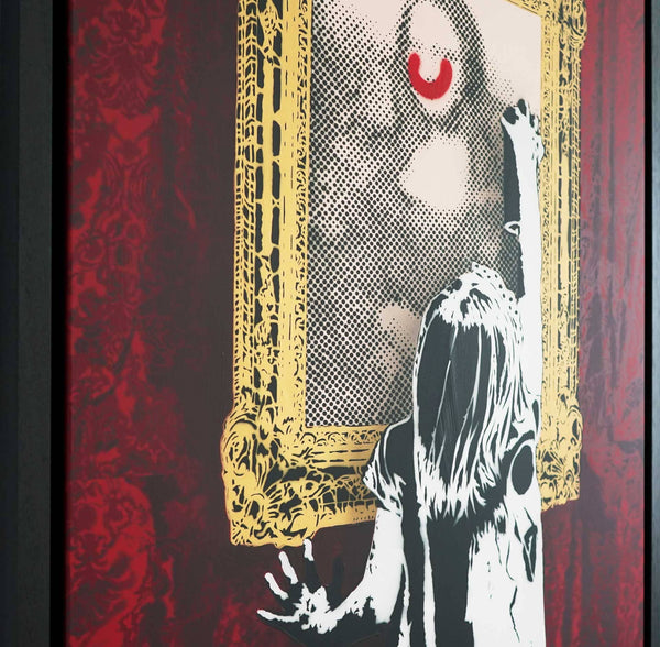 Graffik Gallery Dotmasters - Indigo Get's Up (red curtain)