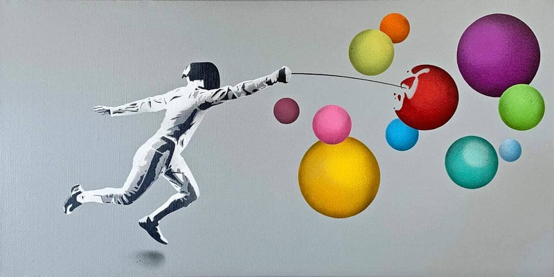 Graffik Gallery Kunstrasen - Fencer vs Bubbles