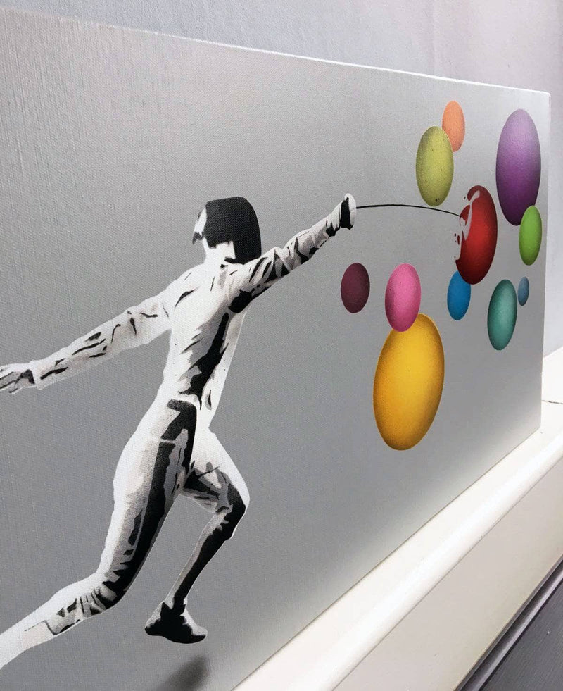 Graffik Gallery Kunstrasen - Fencer vs. Bubbles