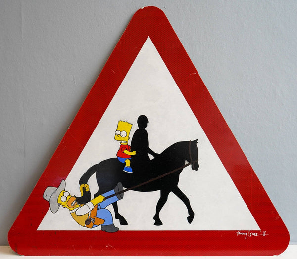 Graffik Gallery Tommy Gurr - Simpsons Warning