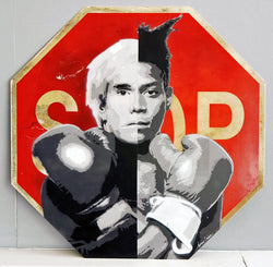 Graffik Gallery Tommy Gurr - Warhol vs Basquiat