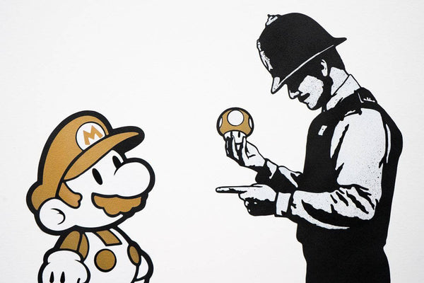 Graffik Gallery TRUST.iCON - Stop and Search (Gold)