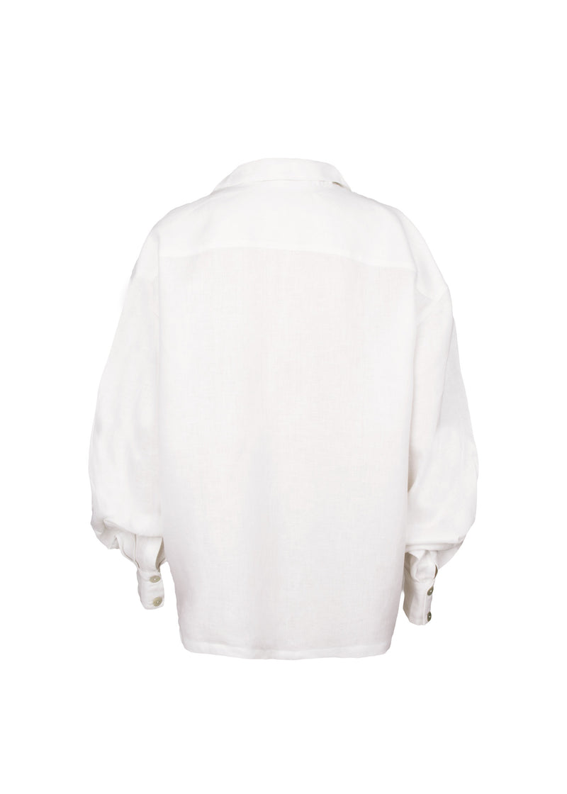 The Linen Button-down White