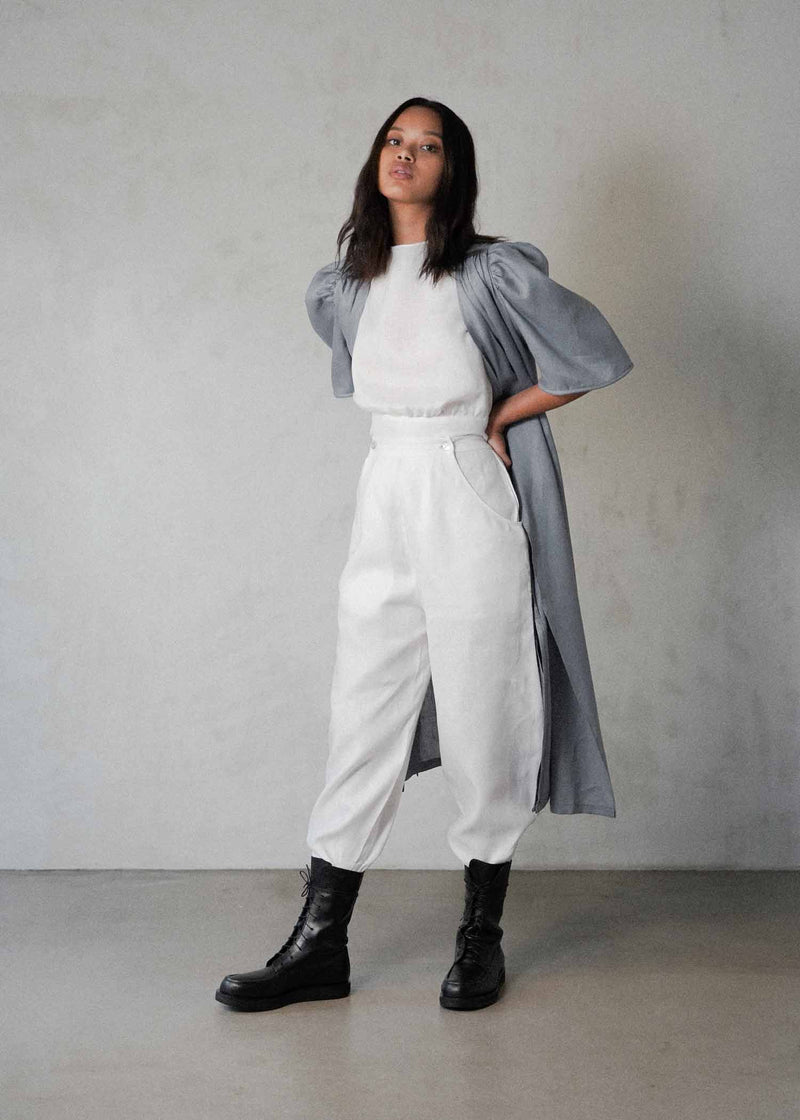 The Adjustable Trousers in White