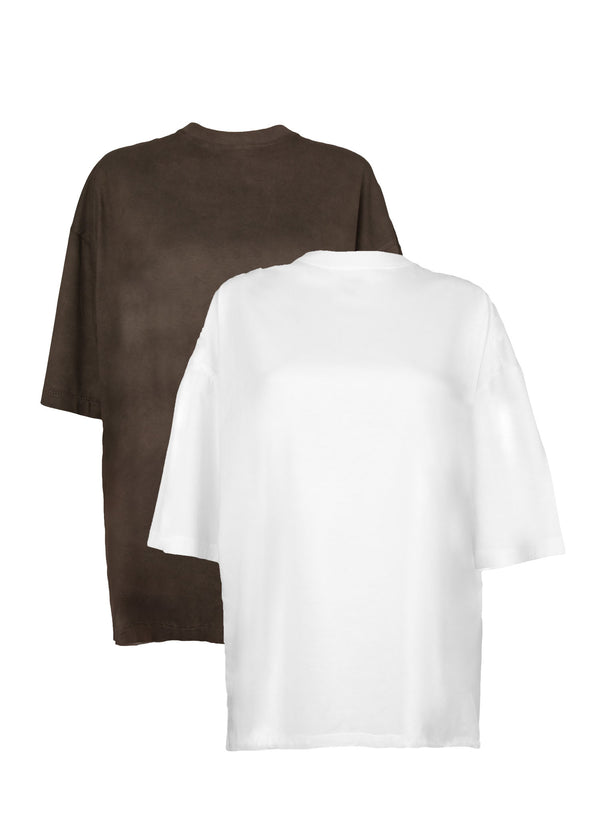 The Oversized Tee Set of Two in White + Coal