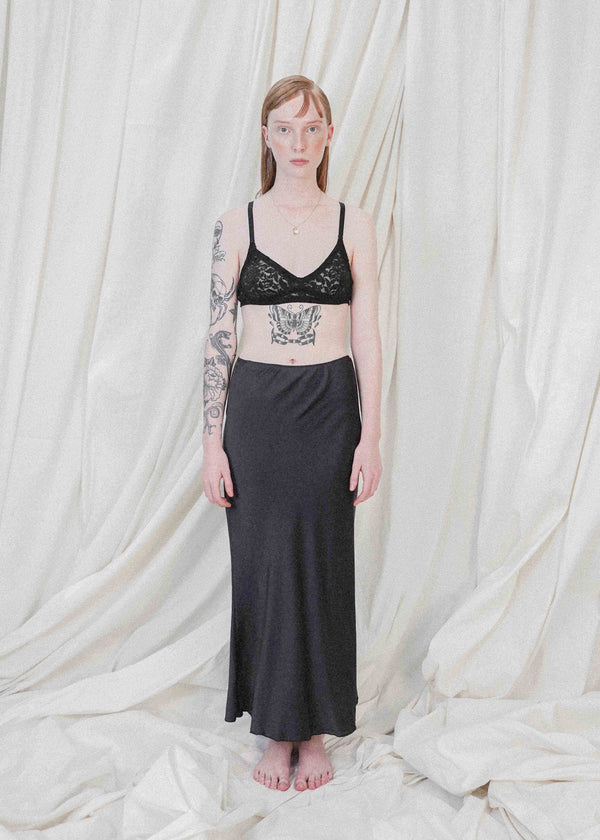 The Silk Midi in Onyx