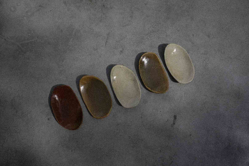 The Crescent Plate in Tiger Eye
