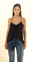 Alessandra Silk Lace Camisole in Black