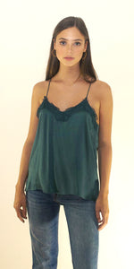 Alessandra Silk Lace Camisole in Sage