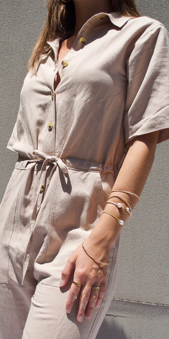 Lola Jumpsuit in Beige