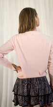 Jamie Crew Neck Cashmere Knit in Pale Pink