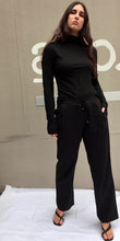 Kate Linen Slouch Pants in Black