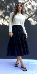 ISLA SKIRT IN BLACK