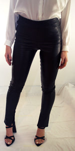 Mila Leather Leggings in Black