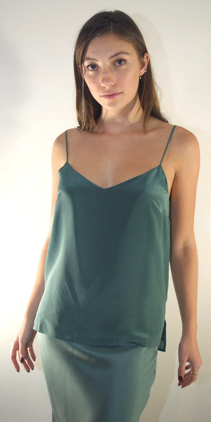 Paloma Silk Camisole in Sage