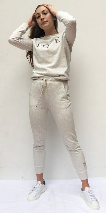 Love Track Pants in Grey