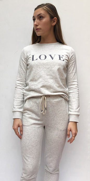 Love Track Top in Grey