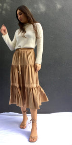 ISLA SKIRT IN SAND