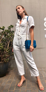 The Lola Jumpsuit in White