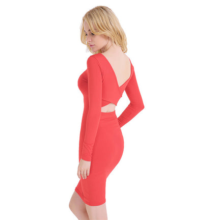 Bodycon Cross Backless Dress