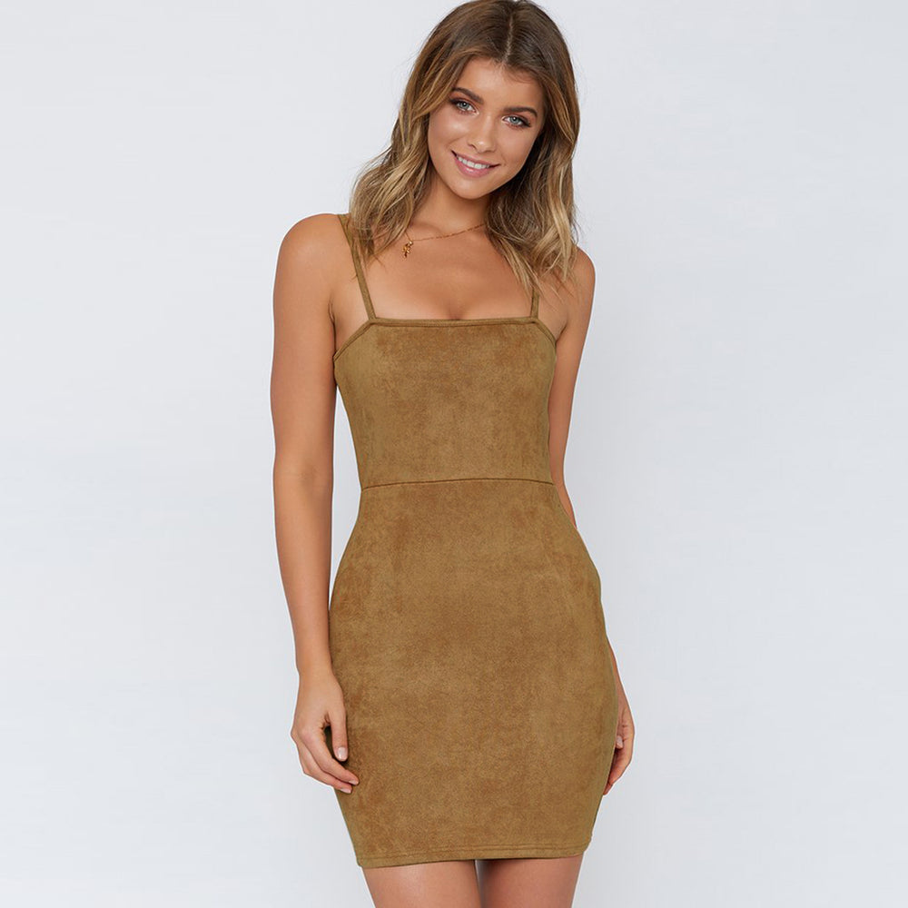Sleeveless Sexy Sueder Dress
